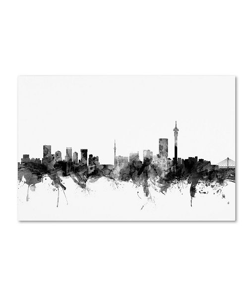 "Trademark Global Michael Tompsett 'Johannesburg Skyline B&W' Canvas Art - 30"" x 47"""