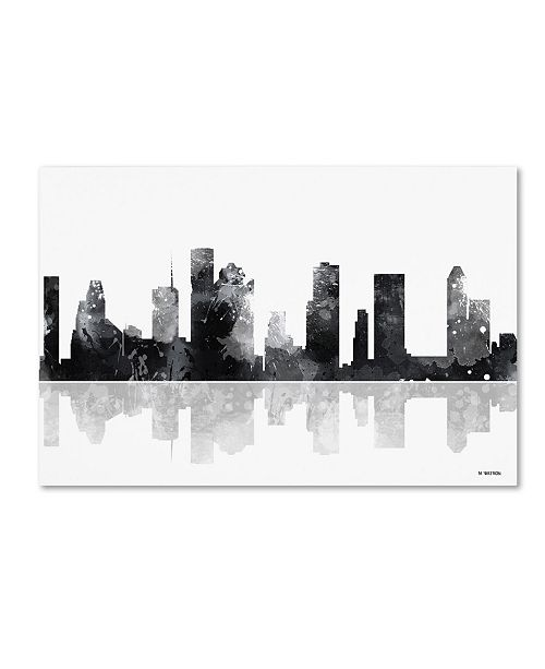"Trademark Global Marlene Watson 'Houston Texas Skyline BG-1' Canvas Art - 22"" x 32"""