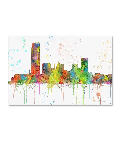 "Trademark Global Marlene Watson 'Oklahoma City Oklahoma Skyline Mclr-1' Canvas Art - 22"" x 32"""