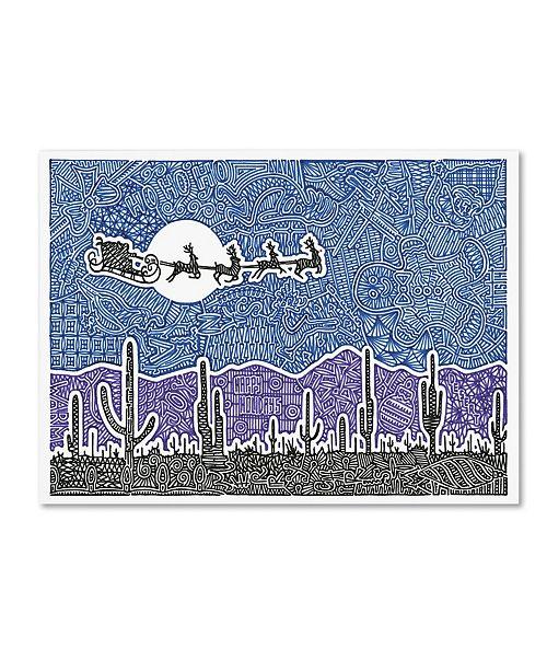 "Trademark Global Viz Art Ink 'Cactus Christmas' Canvas Art - 24"" x 32"""