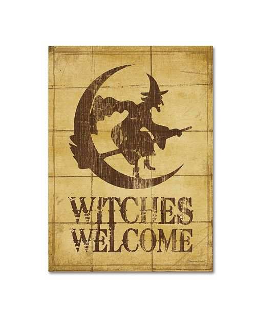 """Trademark Global Stephanie Marrott 'Witches Welcome' Canvas Art - 24"""" x 32"""""""