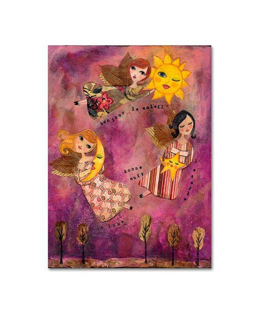 "Trademark Global Wyanne 'Big Eyed Girl Good Morning Sun' Canvas Art - 35"" x 47"""