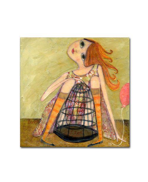 "Trademark Global Wyanne 'Big Eyed Girl If You Love Something' Canvas Art - 35"" x 35"""