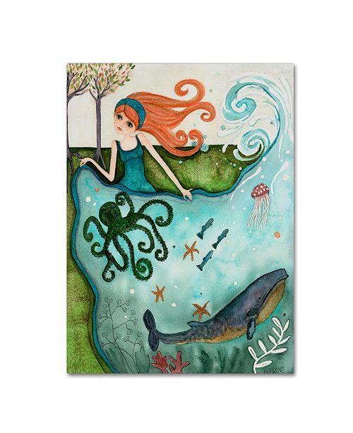 "Trademark Global Wyanne 'Big Eyed Girl Ocean Dreamer' Canvas Art - 24"" x 32"""