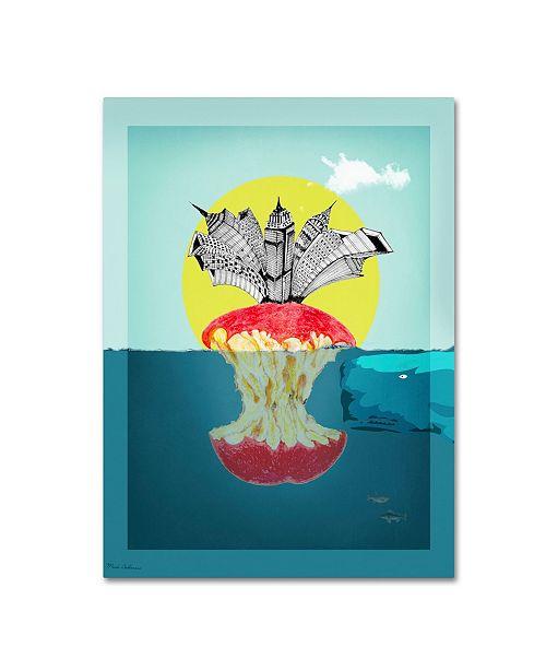 "Trademark Global Mark Ashkenazi 'Sea Life 9' Canvas Art - 24"" x 32"""