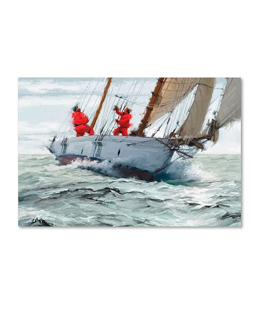 "Trademark Global The Macneil Studio 'Racing Yacht' Canvas Art - 30"" x 47"""