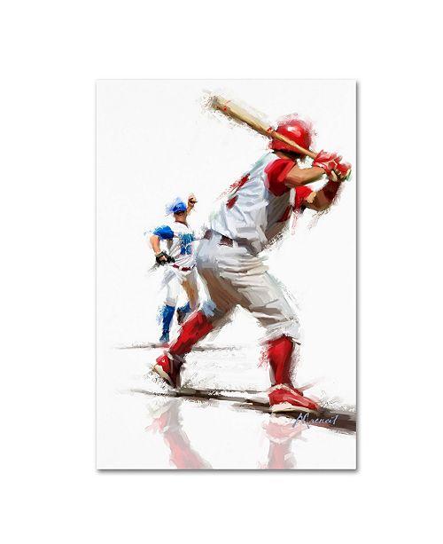 "Trademark Global The Macneil Studio 'Baseball' Canvas Art - 22"" x 32"""