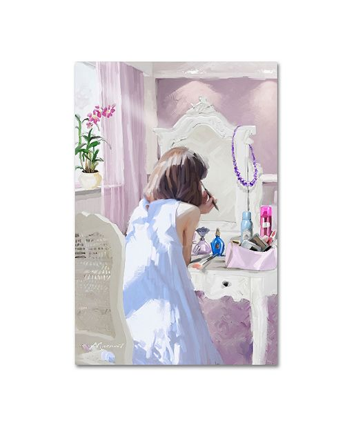 "Trademark Global The Macneil Studio 'Girl Make Up' Canvas Art - 30"" x 47"""