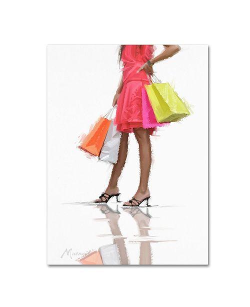 "Trademark Global The Macneil Studio 'Orange Dress' Canvas Art - 24"" x 32"""