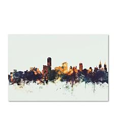 """Michael Tompsett 'Adelaide Australia Skyline' Canvas Art - 30"""" x 47"""""""
