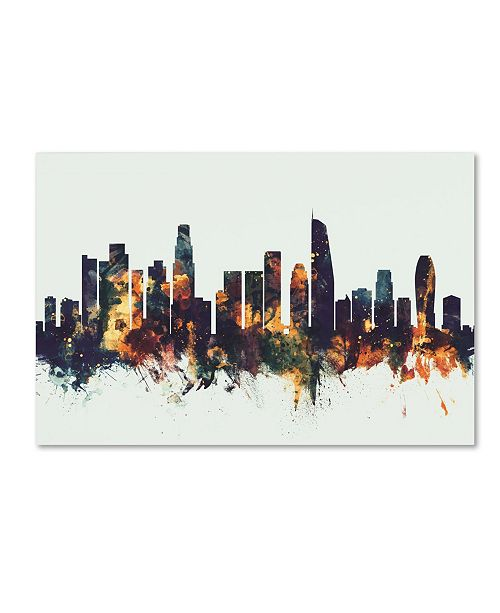 "Trademark Global Michael Tompsett 'Los Angeles California Skyline V' Canvas Art - 30"" x 47"""