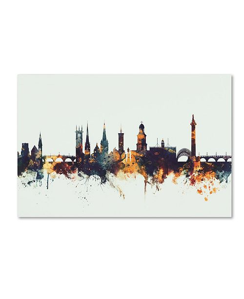 "Trademark Global Michael Tompsett 'Shrewsbury England Skyline V' Canvas Art - 30"" x 47"""