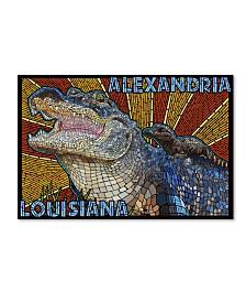 "Lantern Press 'Alligator 1' Canvas Art - 30"" x 47"""