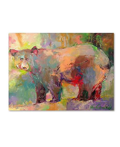 "Trademark Global Richard Wallich 'Art Bear' Canvas Art - 24"" x 32"""
