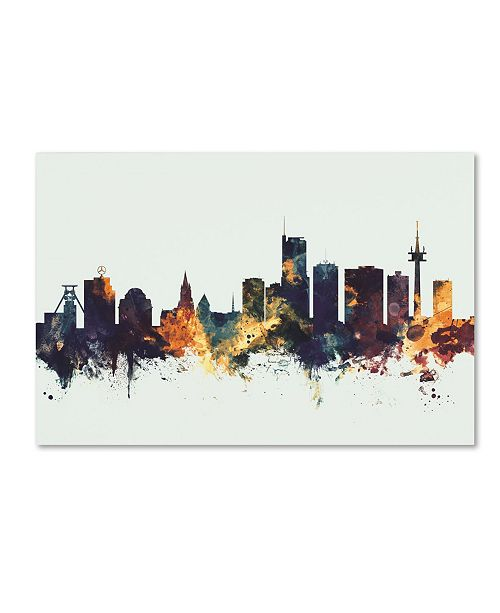 "Trademark Global Michael Tompsett 'Essen Germany Skyline I' Canvas Art - 22"" x 32"""