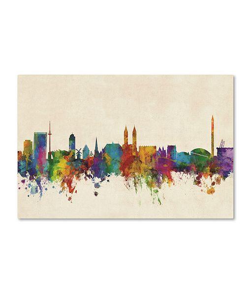 "Trademark Global Michael Tompsett 'Bremen Germany Skyline III' Canvas Art - 22"" x 32"""