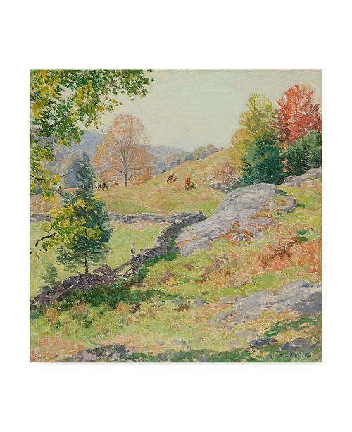 "Trademark Global Willard Leroy Metcalf 'Hillside Pastures September 1922' Canvas Art - 24"" x 24"""