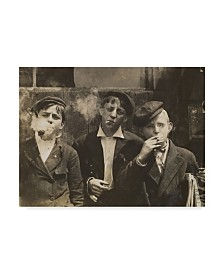 """Lewis Wickes Hine 'Newsies at Skeeter's Branch 1910' Canvas Art - 35"""" x 47"""""""