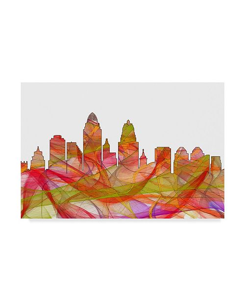 "Trademark Global Marlene Watson 'Cincinnati Ohio Skyline' Canvas Art - 22"" x 32"""