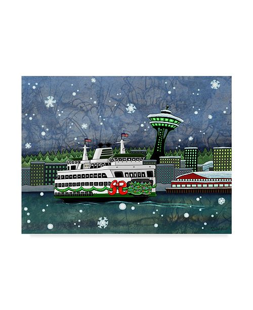 """Trademark Global Jake Hose 'Holiday Ferry In Seattle' Canvas Art - 24"""" x 32"""""""