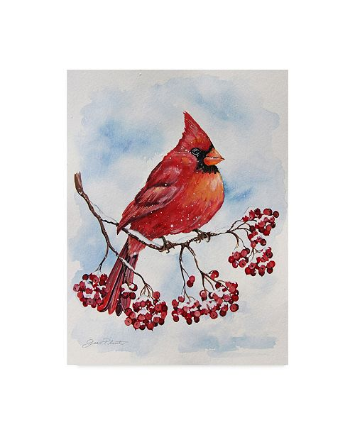 "Trademark Global Jean Plout 'Red Cardinal' Canvas Art - 24"" x 32"""