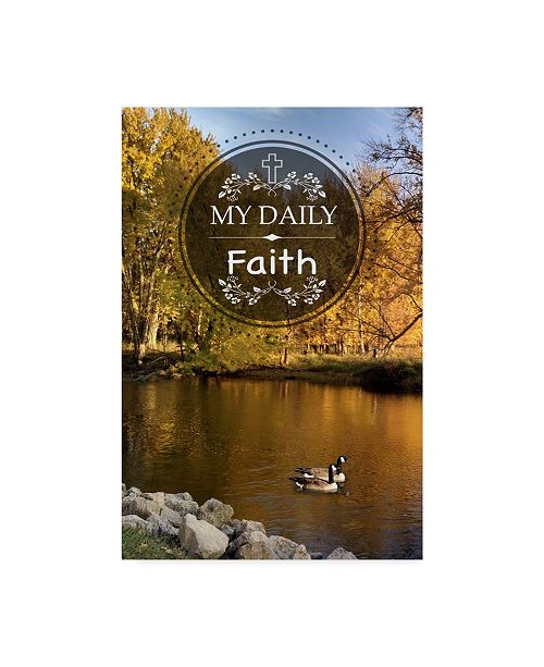 "Trademark Global Jean Plout 'My Daily Faith' Canvas Art - 22"" x 32"""