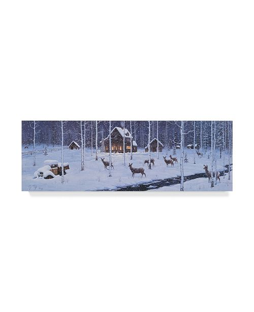 "Trademark Global Jeff Tift 'Holiday Silence' Canvas Art - 6"" x 19"""