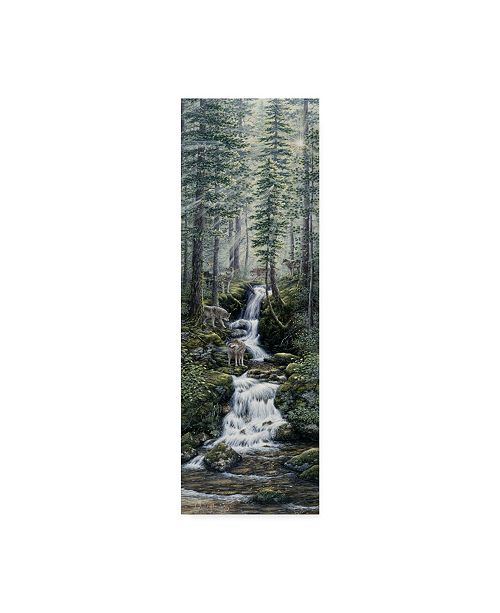 "Trademark Global Jeff Tift 'Cascade Wolves' Canvas Art - 6"" x 19"""