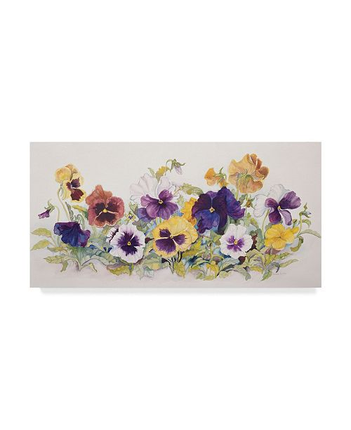 "Trademark Global Joanne Porter 'Pansies Faces' Canvas Art - 24"" x 47"""
