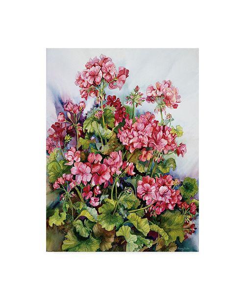 "Trademark Global Joanne Porter 'Red Geranium' Canvas Art - 24"" x 32"""