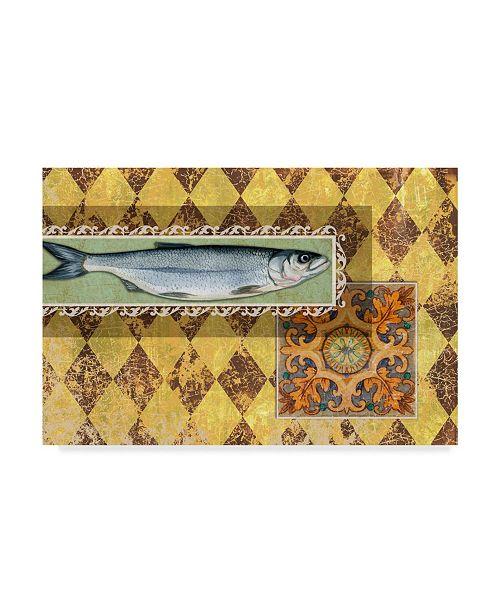 "Trademark Global Maria Rytova 'River Fish' Canvas Art - 30"" x 47"""