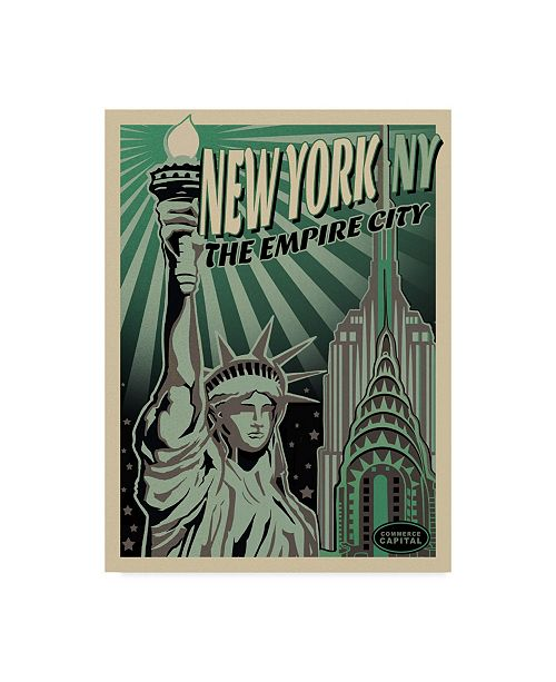 """Trademark Global Old Red Truck 'LADY LIBERTY' Canvas Art - 24"""" x 32"""""""