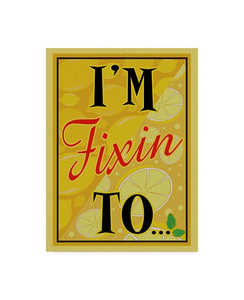"""Trademark Global Old Red Truck 'I'M FIXIN TO...' Canvas Art - 24"""" x 32"""""""