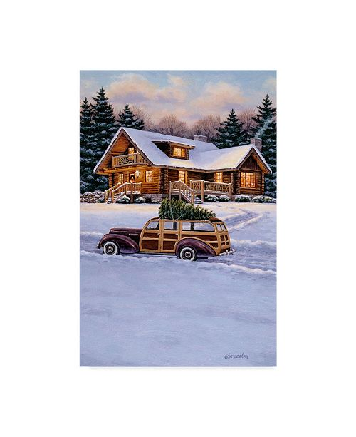 "Trademark Global William Breedon 'Log Cabin' Canvas Art - 30"" x 47"""