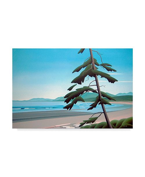 """Trademark Global Ron Parker 'The Long Beach' Canvas Art - 22"""" x 32"""""""
