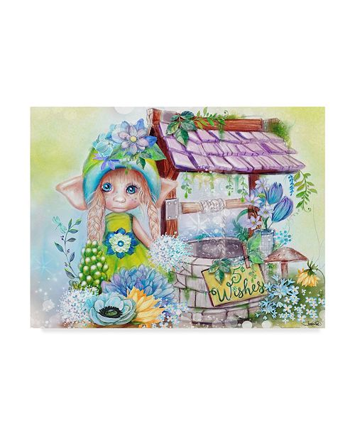 """Trademark Global Sheena Pike Art And Illustration 'Wishes 5 Cents' Canvas Art - 24"""" x 32"""""""