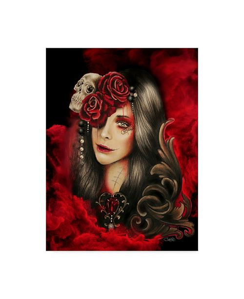 "Trademark Global Sheena Pike Art And Illustration 'Creep' Canvas Art - 24"" x 32"""
