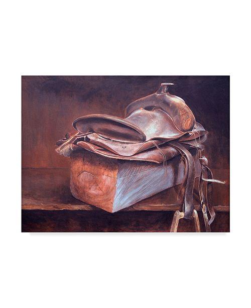 "Trademark Global Rusty Frentner 'Saddle Up' Canvas Art - 24"" x 32"""