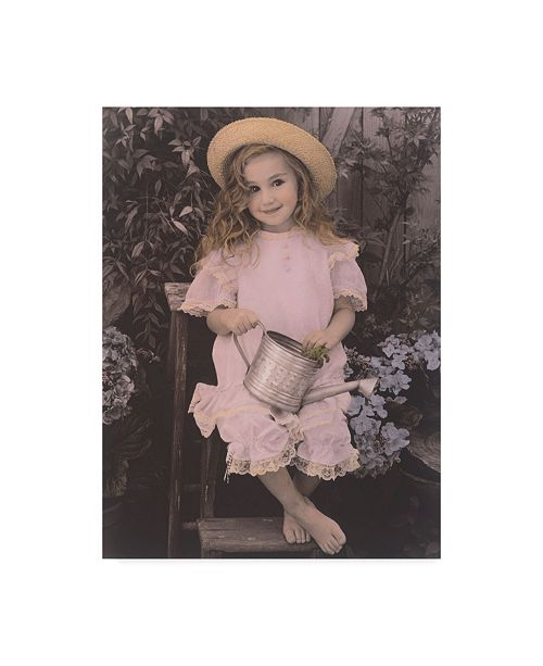 """Trademark Global Sharon Forbes 'Lovely In Lavender' Canvas Art - 24"""" x 32"""""""