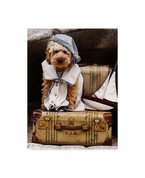 """Trademark Global Sharon Forbes 'Isabell Takes A Trip' Canvas Art - 24"""" x 32"""""""