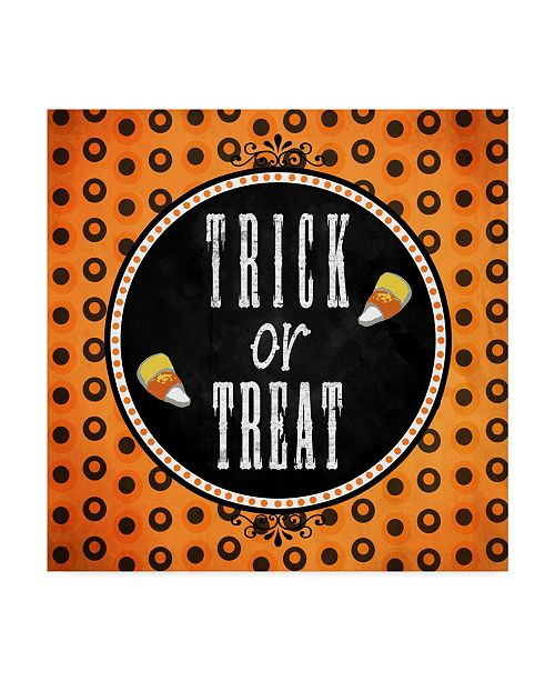 """Trademark Global Valarie Wade 'Trick Or Treat' Canvas Art - 35"""" x 35"""""""