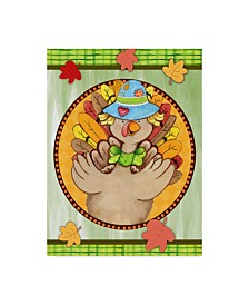 "Valarie Wade 'Turkey Scarecrow' Canvas Art - 24"" x 32"""