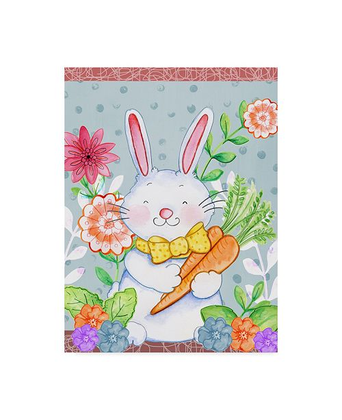 "Trademark Global Valarie Wade 'Carrots And Bunny' Canvas Art - 35"" x 47"""