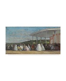 """Eugene Louis Boudin 'Concert At The Casino Of Deauville' Canvas Art - 32"""" x 16"""""""