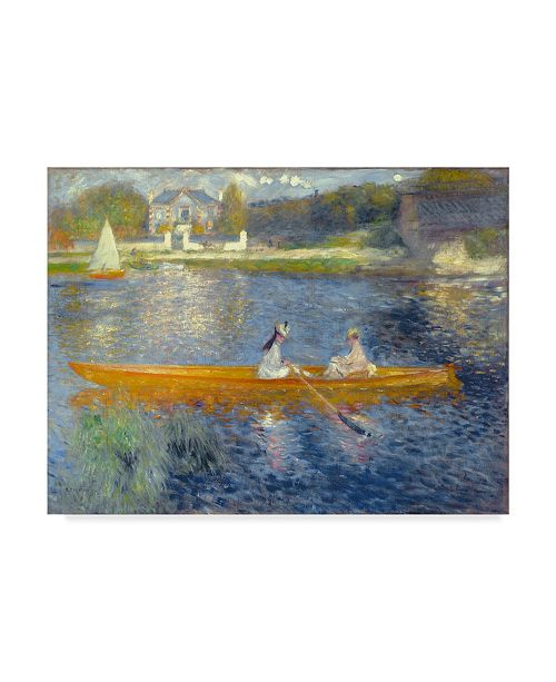 "Trademark Global Pierre Auguste Renoir 'The Skiff' Canvas Art - 47"" x 35"""
