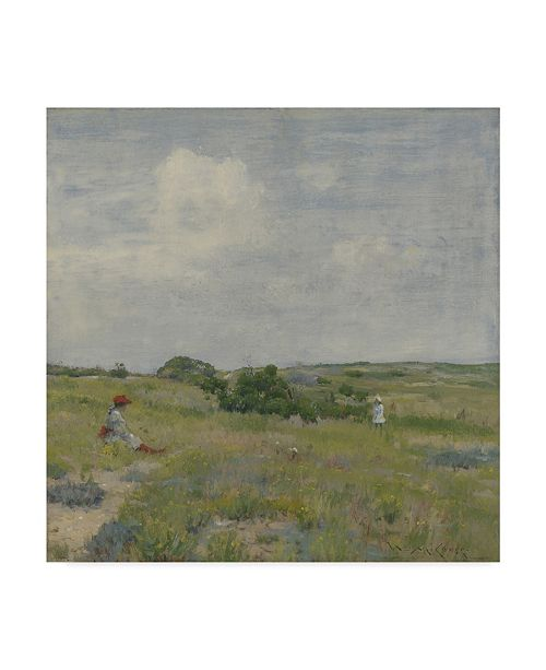 "Trademark Global William Merritt Chase 'Shinnecock Hills' Canvas Art - 24"" x 24"""