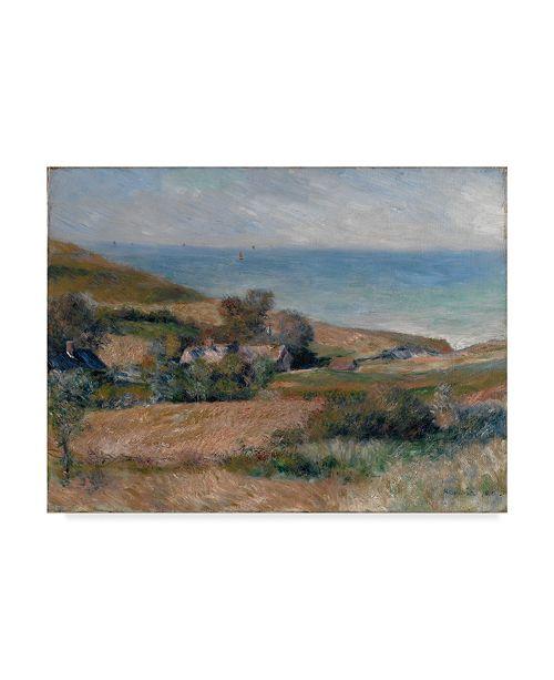 "Trademark Global Pierre Auguste Renoir 'View Of The Seacoast' Canvas Art - 47"" x 35"""