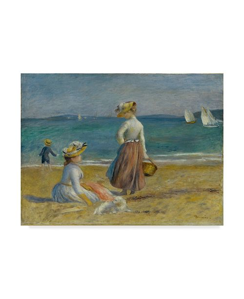 "Trademark Global Pierre Auguste Renoir 'Figures On The Beach' Canvas Art - 47"" x 35"""