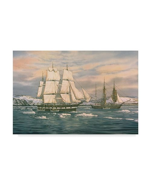 """Trademark Global Jack Wemp 'The Whaling Station' Canvas Art - 47"""" x 30"""""""