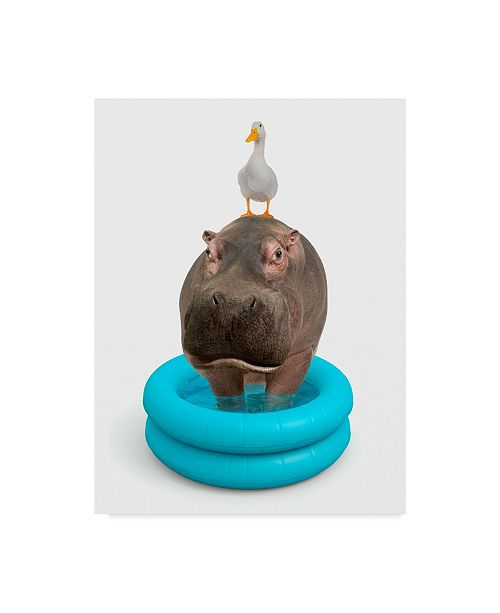 "Trademark Global J Hovenstine Studios 'Hippo And Duck' Canvas Art - 35"" x 47"""